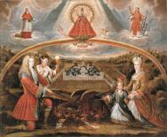 Allegory of Philip  V and his family fighting against heresy, Felipe de Silva, 1710-1711, Madrid, Monastery of San Lorenzo El Escorial