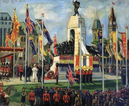 the unveiling of the national war memorial, ottawa 1939_margaret fulton frame