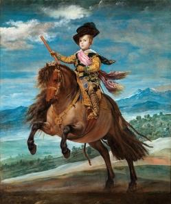 Prince Baltasar Carlos on horseback, Velasquez 1634/1635